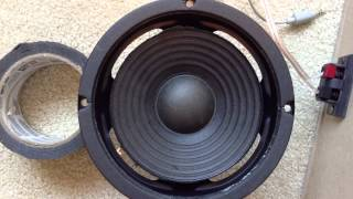 Free Speaker Find Update #1 Fixing surrounds with duck tape