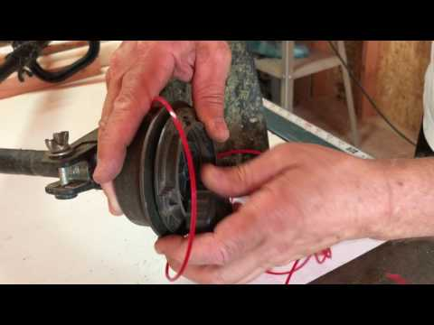 How to replace string on Homelite grass trimmer