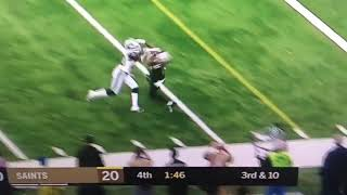 Pass Interference miss call Rams vs Saints