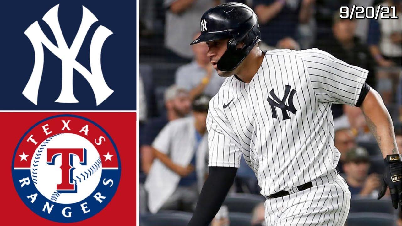 New York Yankees Vs. Texas Rangers   Game Highlights   9/20/21