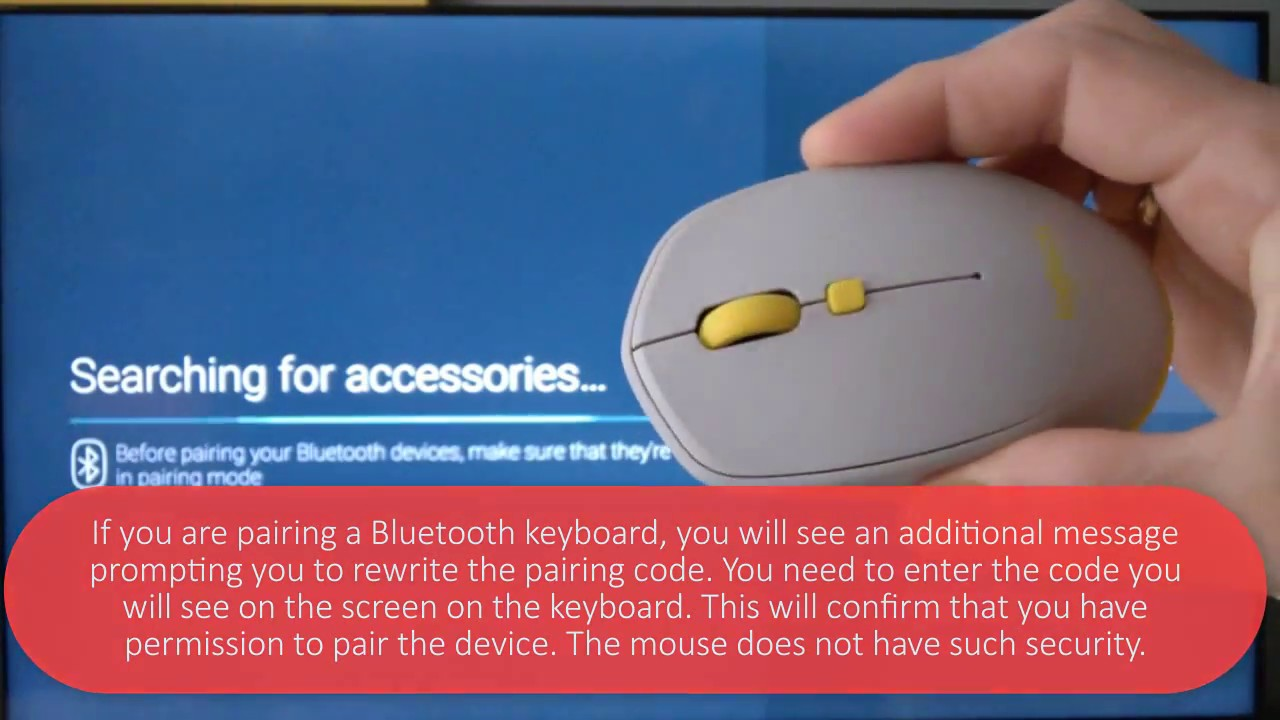 how to connect wireless bluetooth mouse keyboard to tv with androidtv youtube. Black Bedroom Furniture Sets. Home Design Ideas