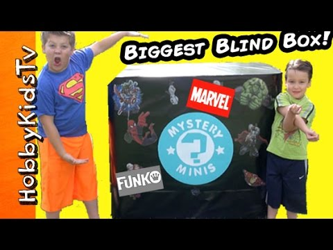 Worlds BIGGEST TOY BOX! Marvel + Funko Pop Batman Avengers MLP Imagnext Blind Bags by HobbyKidsTV