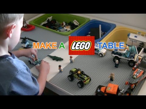 How To Make A Lego Table .. DIY  .. JustGiveItaGo .. Awesome
