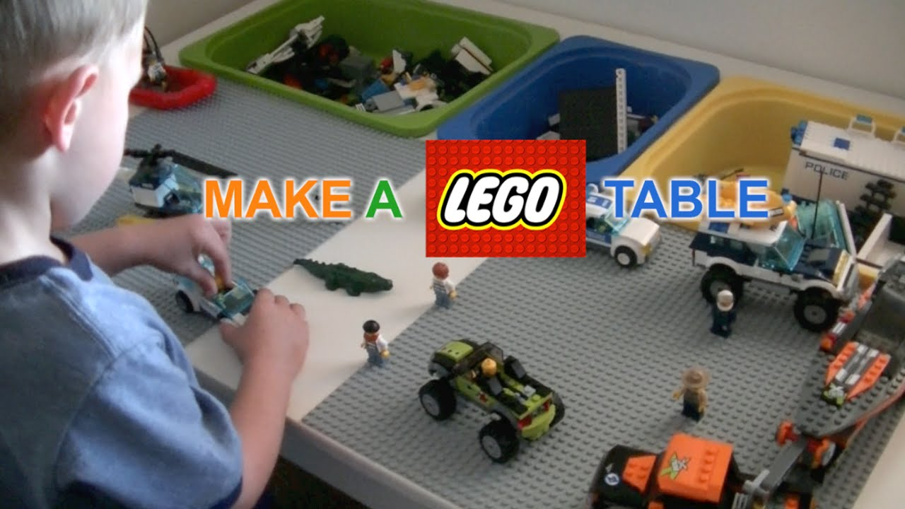 How To Make A Lego Table Diy Justgiveitago