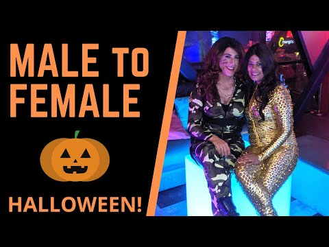Male to Female Transformation - Halloween Makeup Tutorial