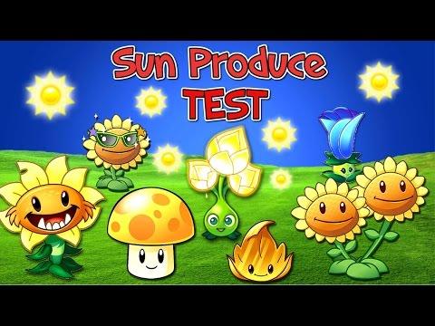 Plants vs. Zombies 2 Sun Produce TEST (Plantas Contra Zombies 2)