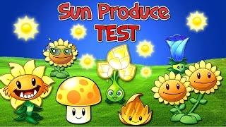Plants vs. Zombies 2 Sun Produce TEST (Plantas Contra Zombies 2) Video