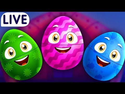 ChuChuTV Surprise Eggs Old Maonald Had A Farm - Farm Animals Wild Animals & More for Kids -
