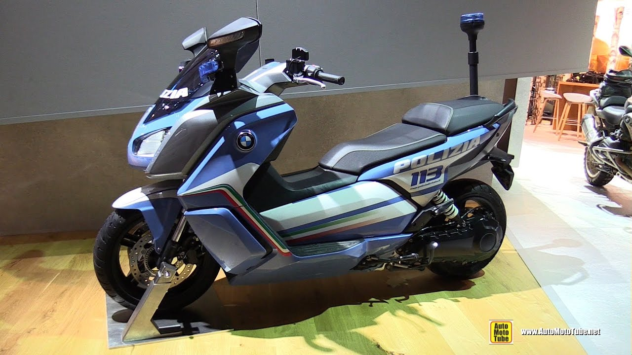 2017 bmw c evolution electric police scooter walkaround. Black Bedroom Furniture Sets. Home Design Ideas