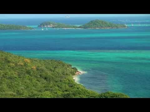 Mayreau Island of St. Vincent & the Grenadines. Motion picture