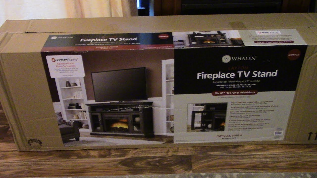 Whalen Wal Mart Fireplace Tv Stand Review Youtube