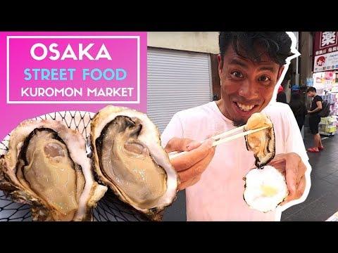 Japanese Street Food | Osaka KUROMON Ichiba Fish Market BETTER Than TSUKIJI Market