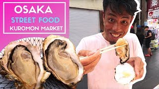 Japanese Street Food   Osaka KUROMON Ichiba Fish Market BETTER Than TSUKIJI Market