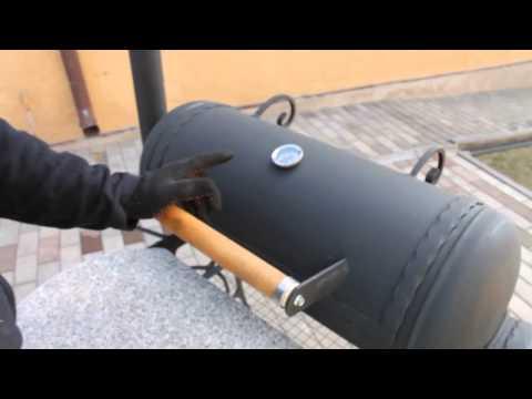 Гриль смокер мангал из газового баллона/ GRILL+SMOKER HAND MADE