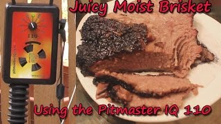 moist juicy beef brisket using the pitmaster iq110