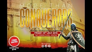 2019 FESTIVAL OF LIFE LONDON    MORE THAN CONQUERORS