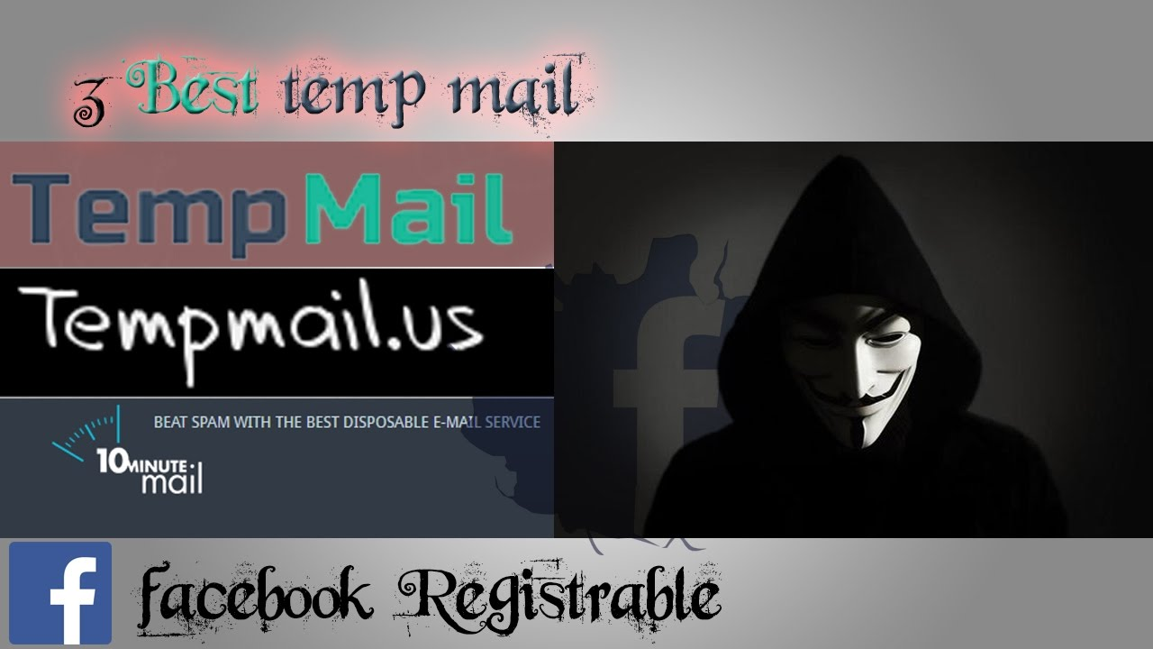 HOW to make TEMP MAIL│Facebook registrable │Recover fb Account ► 3 BEST  temporary Mail sites