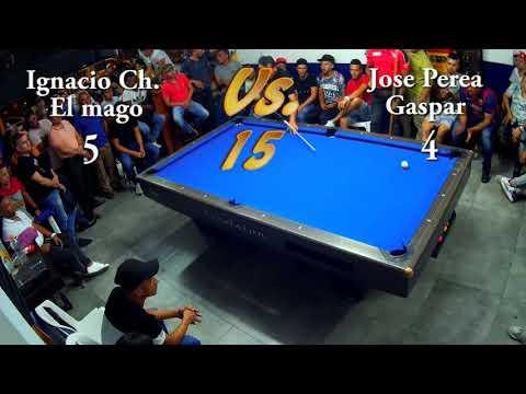 """Gran Duelo Bola 10 Ignacio Chavez """"El Mago"""" Vs. Jose Perea """"Gaspar"""" P2 Club Billares Champion"""