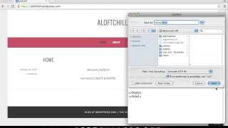 How to create a website in text edit with html