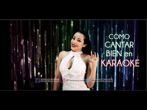como CANTAR bien en KARAOKE - Tips y clases de canto -Leslye Medrano