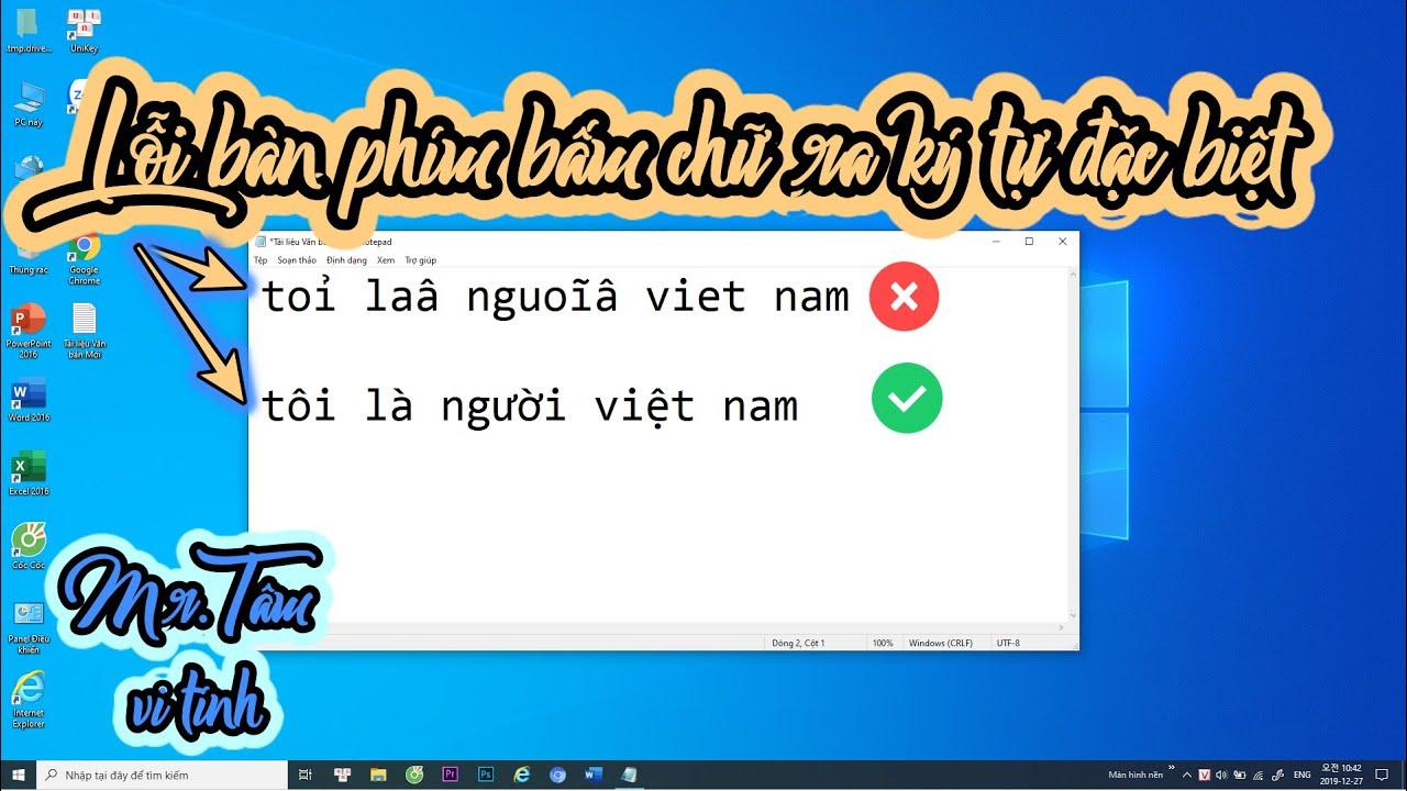 Hướng dẫn xử lý lỗi bàn phím máy tính bấm chữ ra ký tự lạ   loạn nút phím   Mr Tâm vi tính