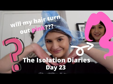 DYING MY HAIR PINK! (with My Sister!) | Coronavirus: Isolation Diaries - Day 23