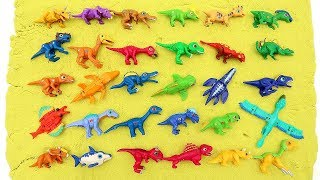30 Mini Dino Dinosaurs Toys For Kids! Dino Mecard Color Dinosaur Eggs Is Hatching Funny And Cute