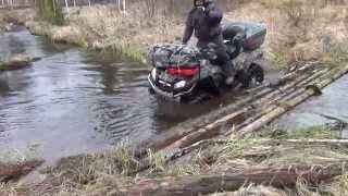 Поездка на квадроциклах CF-800 в верховья реки Вонью респ. Коми