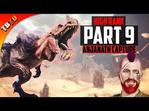 Monster Hunter World | Part 9 - HIGH RANK Anjanath Capture! Dual Blades Gameplay