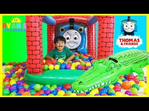 Thumbnail: Thomas and Friends GIANT BALL PITS Egg Surprise Toys Hot Wheels Inflatable Toys Kids Video
