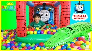 Thomas and Friends GIANT BALL PITS Egg Surprise Toys Hot Wheels Inflatable Toys Kids Video