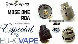 Mose one rda de MCM Mods Especial Eurovape-------el mejor rda single coil del momento