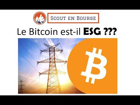 Le Bitcoin est-il ESG ?
