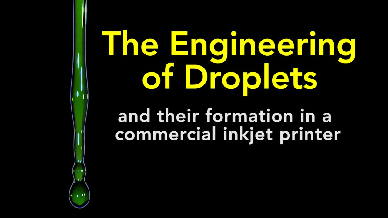 The Engineering of Droplets and their Formation in a Commercial Inkjet Printer