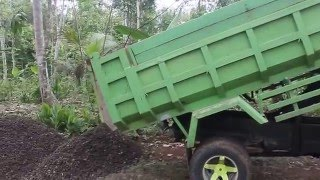 Cara kerja Dump Truck #proyek rabat beton jln Cikancah..