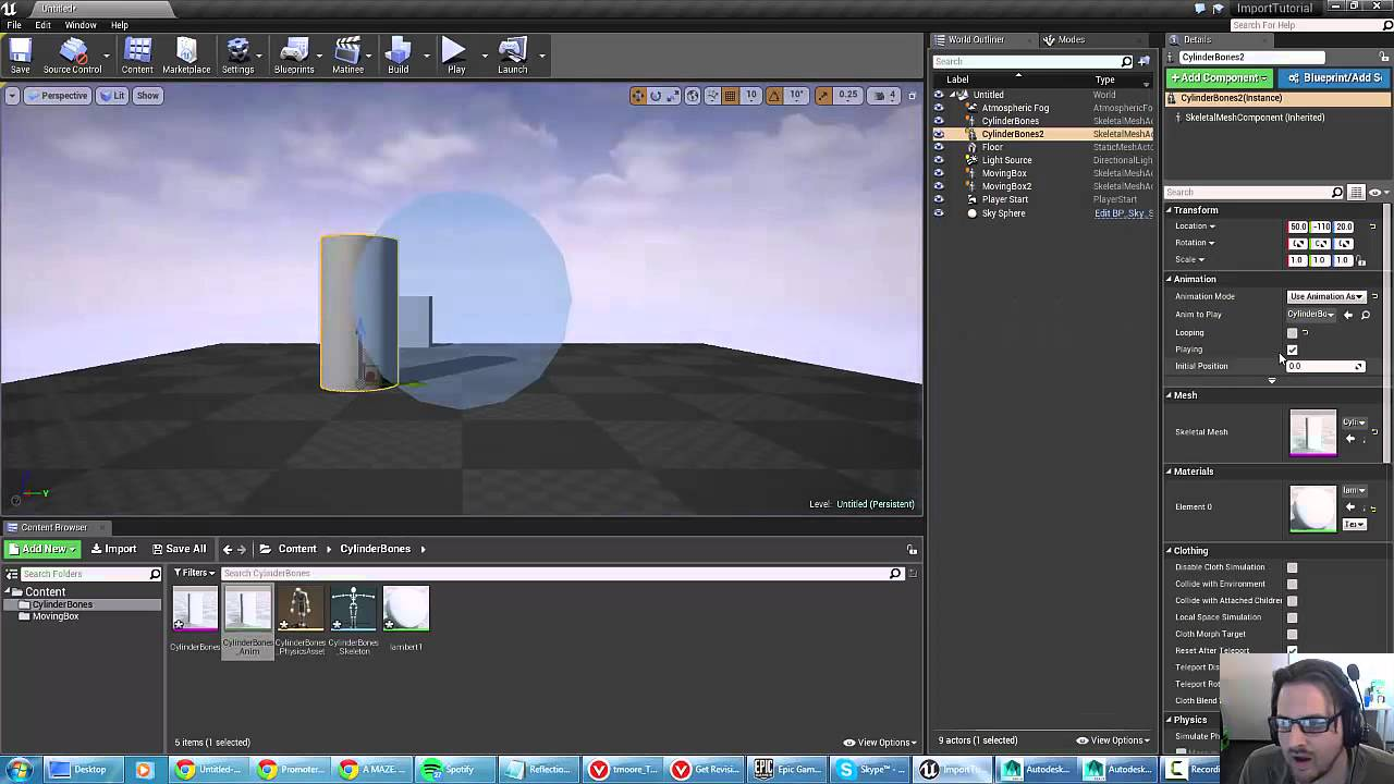 Unreal 4 tutorial basics of importing and playing animations youtube unreal 4 tutorial basics of importing and playing animations malvernweather Gallery