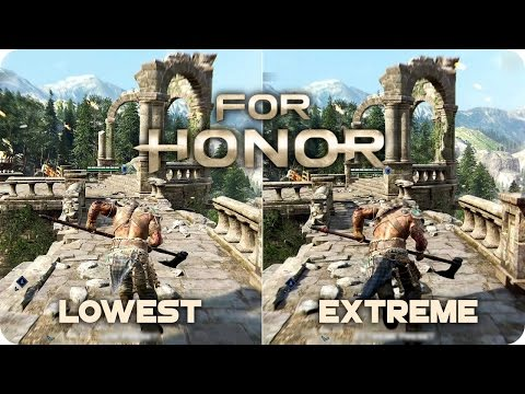 PC Graphics Comparison - For Honor - Low vs Ultra Settings