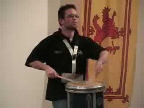 "Steven McWhirter plays the ""International"" Drumsalute"