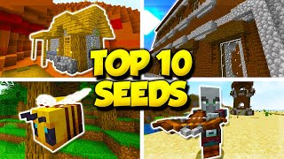 TOP 10 SEEDS for MINECRAFT 1.15.2! (Minecraft Java Edition Seeds)