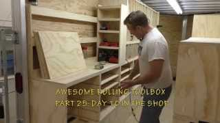 Building A Mobile Woodshop (part 25) Making The Drawer Bases.