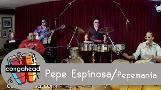 Pepe Espinosa performs Pepemania for congahead.com