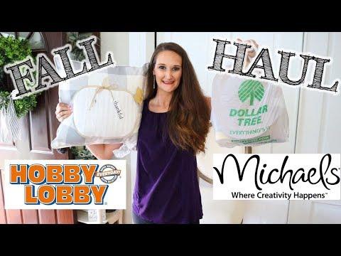 Farmhouse Fall Decor HAUL! | DOLLAR TREE, HOBBY LOBBY & MORE!