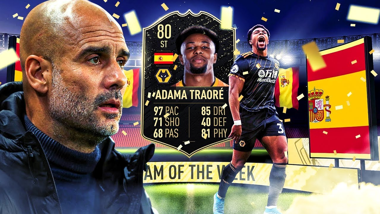 The Most Broken Card In Fifa 80 Inform Adama Traore Player Review Fifa 20 Ultimate Team Youtube