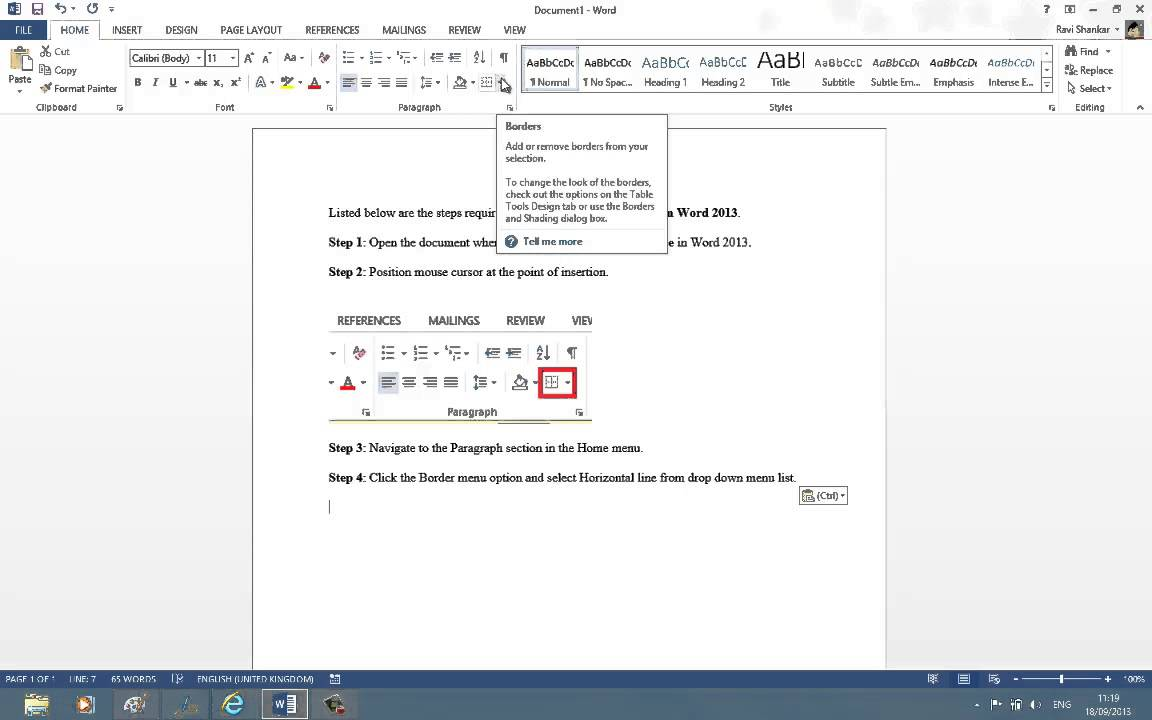 Drawing Lines In Microsoft Word : How to draw vertical and horizontal lines in word