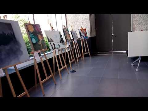 Family video - Regan's  Art Exhibition at Calgary Board of Education