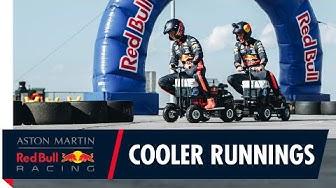 Max Verstappen and Alex Albon ride motorised coolers down under with Aussie legend Scotty James