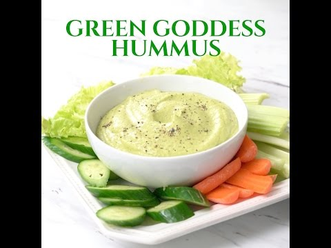 Green Goddess Hummus Light, Healthy and Super Delicious!