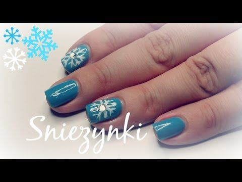 świąteczne Paznokcie Dzień 6 śnieżynki Youtube