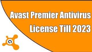 Avast Premier Antivirus License Till 2023
