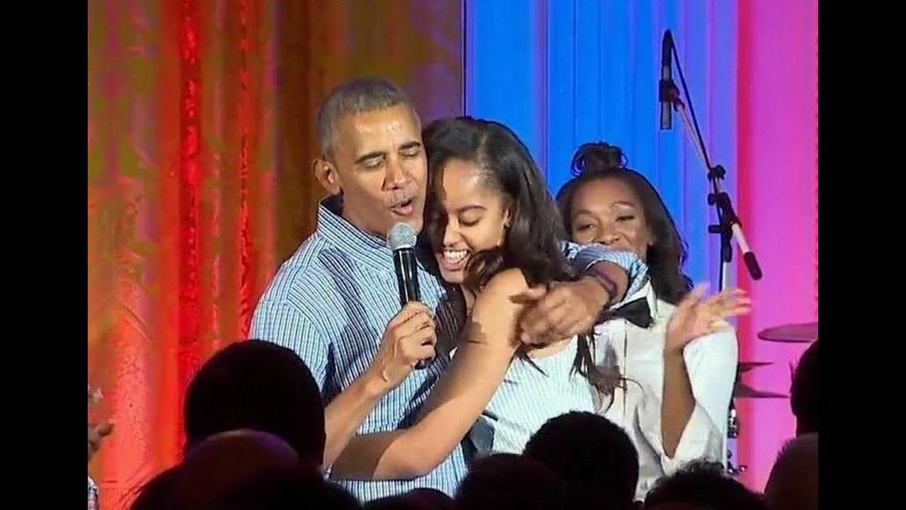 President Obama Serenades Daughter Malia for Her 18th ...